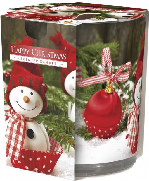 Poze Lumânare parfumată în pahar imprimat Happy Christmas