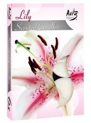 Poze Lumânare pastilă parfumată 6 buc/set aromă crin