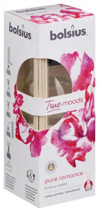 Poze Odorizant Difuzor cu beţişoare pentru casă True - Bolsius Trandafir şi Chihlimbar