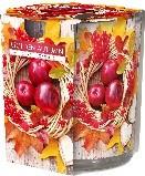 Poze lumanare parfumata in pahar imprimata Golden Autumn