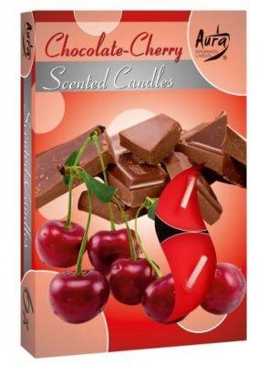 Poze Lumânare pastilă parfumată 6 buc/set aromă ciocolată si cireşe