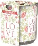 Poze Lumanare parfumata in pahar imprimata Love Letter