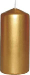Poze Lumânare stâlp 50x100 mm, culori metalizate auriu