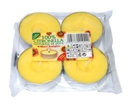 Poze Lumânări pastilă citronella maxi 4 bucăţi