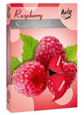 Poze Lumânare pastilă parfumată 6buc/set aroma zmeură