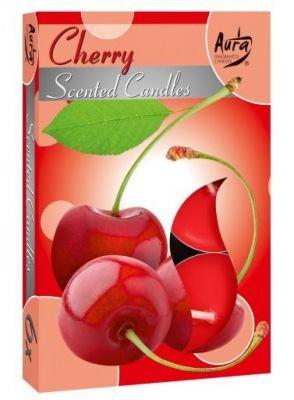 Poze Lumânare pastilă parfumată 6 buc/set aromă cireşe