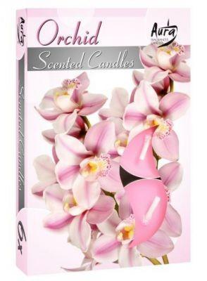 Poze Lumânare pastilă parfumată 6 buc/set aromă orhidee