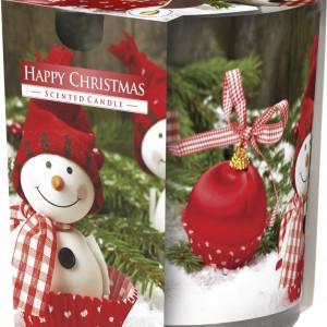 Lumânare parfumată în pahar imprimat Happy Christmas