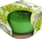Lumânare parfumată în pahar de sticlă-ceai verde