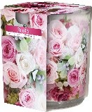 Lumanare parfumata in pahar imprimata Roses