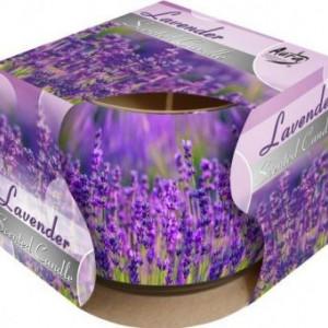 Lumânare parfumată în pahar de sticlă imprimat