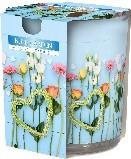 Lumanare parfumata in pahar imprimata Blue Garden