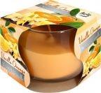 Lumânare parfumată în pahar de sticlă-vanilie si orange