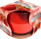 Lumânare parfumată în pahar de sticlă-capsuni