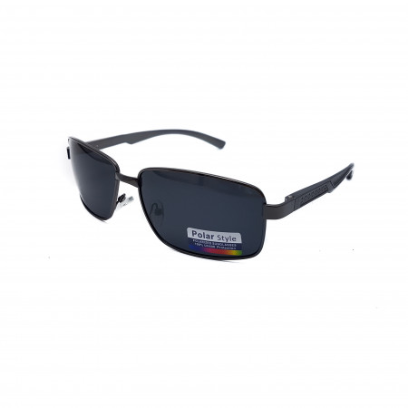 Ochelari de soare Polarizati, Pentru Soferi, brat aluminiu, gri inchis, P1023C3
