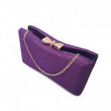Clutch glitter, Tia accesorii, violet