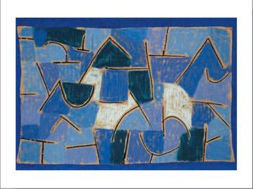 "Poze Tablou inramat Klee ""Noapte albastra"""