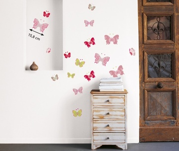 Poze Sticker decorativ ''Fluturi colorati''