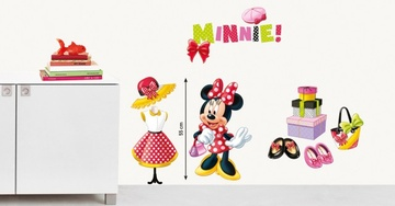 Poze Sticker de perete ''Minnie la moda''