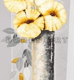 Tablou decorativ ''Flori galbene in vaza II'' inramat