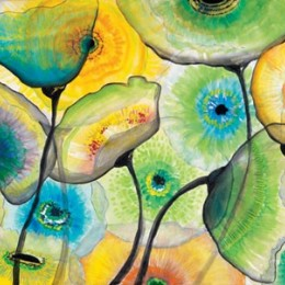 Tablou Flori de sticla I, 100x50 cm