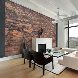 Fototapet - Vintage Wall (Red Brick)
