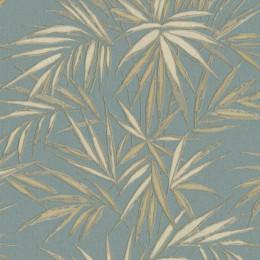 Tapet superlavabil cu frunze exotice pentru dormitor