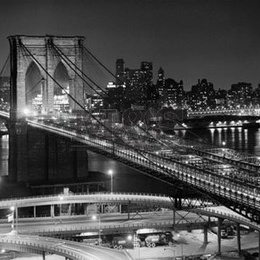 "Poster ""Podul Brooklyn noaptea"""