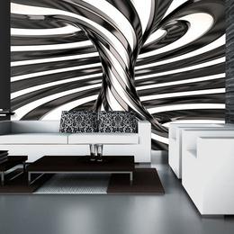 Fototapet - Black and white swirl