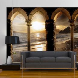 Fototapet - Castle on the beach