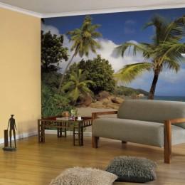 Fototapet peisaj palmieri Praslin