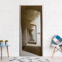 Fototapet pentru ușă - Mysterious Corridor