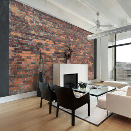 Fototapet - Vintage Wall (Red Brick)
