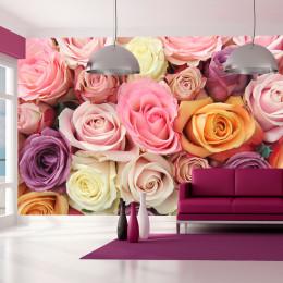 Fototapet vlies Trandafiri pastelati
