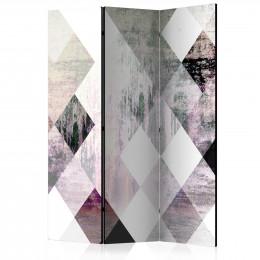 Paravan - Rhombic Chessboard (Pink) [Room Dividers]