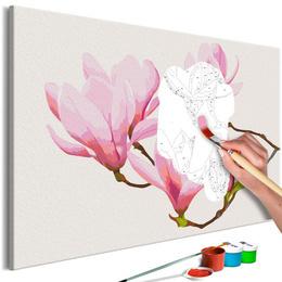 Pictura pe numere - Crenguta Florala