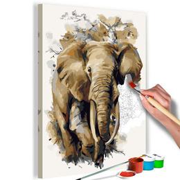Pictura pe numere - Elefant Frumos