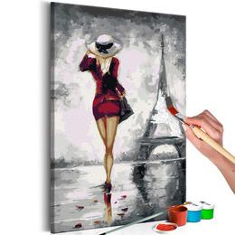 Pictura pe numere - Fata din Paris