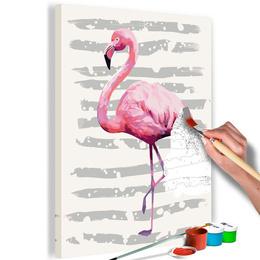 Pictura pe numere - Flamingo