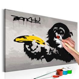 Pictura pe numere - Maimuta (Banksy)