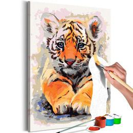 Pictura pe numere - Pui de Tigru