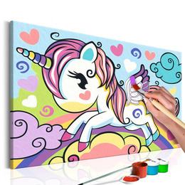 Pictura pe numere - Unicorn Multicolor