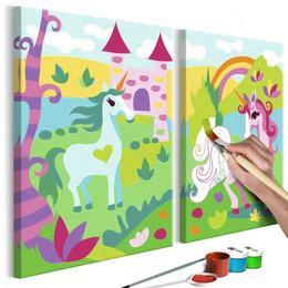Pictura pe numere - Unicorni de Basme