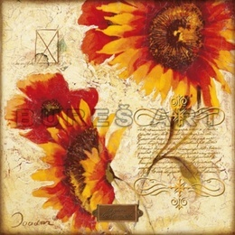 Poster Colaj cu floarea soarelui II