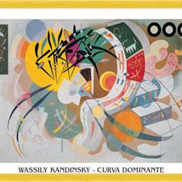 "Poster Kandinsky ""Curbe dominante"" inramat"