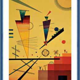 "Poster Kandinsky ""Structuri vesele"" inramat"