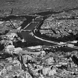 "Poster ""Vedere aeriana asupra Parisului"""