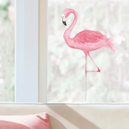 Sticker de geam Flamingo roz