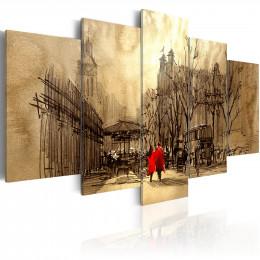 Tablou canvas Calatorie in timp, 5 piese