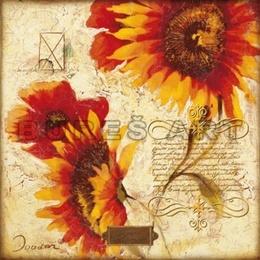 Tablou Colaj cu floarea soarelui II
